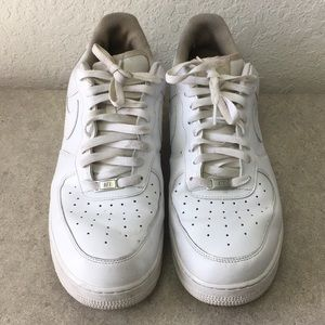 ✅Men Nike Air Force 1 White Shoes size 14